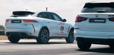 BMW X3 M Drag Races捷豹F-Pace SVR的成绩令人震惊
