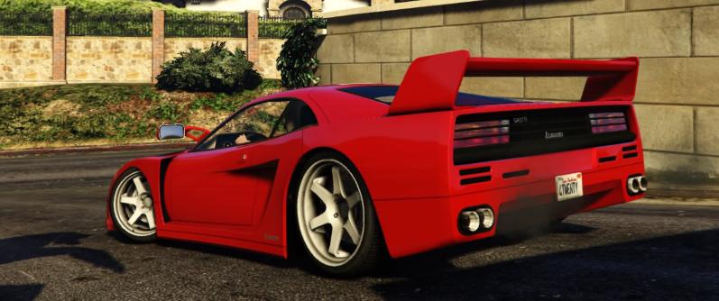 在GTA V中观看法拉利F40停在广告牌上的原因