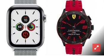 法拉利Scuderia XX Ultraveloce Smartwatch与Apple Watch