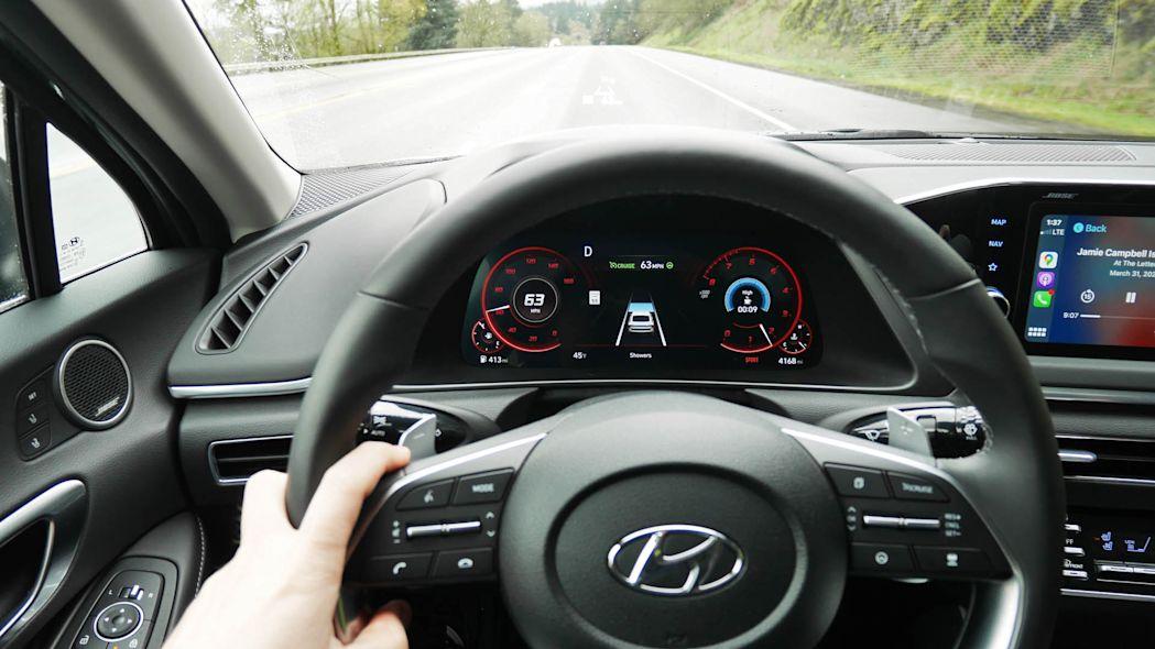 2020现代索纳塔的安全技术车道测试