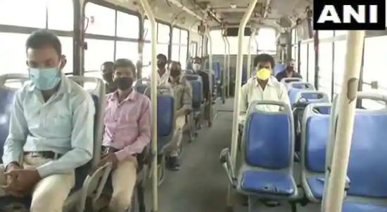 在封锁4.0中印度DTC巴士服务在首都恢复