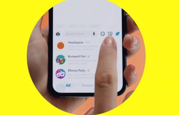Snapchat首次推出可在聊天中显示的Minis