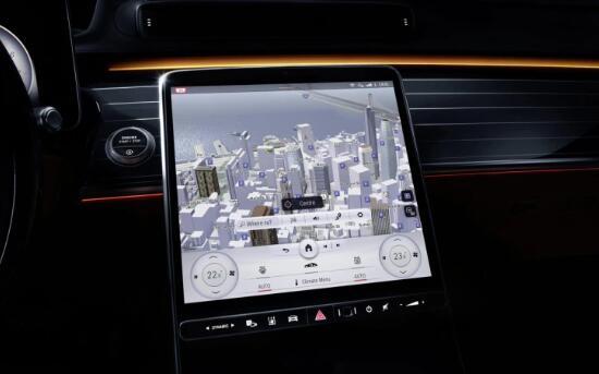 梅赛德斯选择2021 S-Class配备更多屏幕和更少按钮