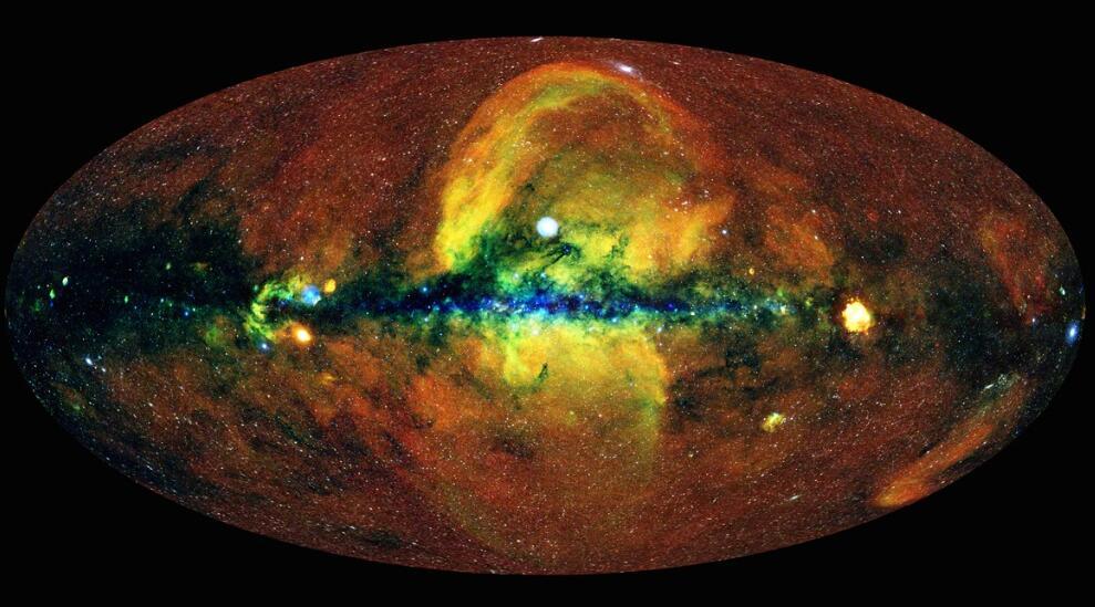 美国研究人员创建第一张高能X射线绘制的天空图