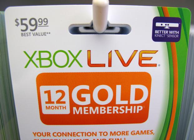微软已停止出售12个月的Xbox Live Gold会员资格