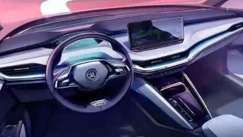 斯柯达揭示即将推出的电动SUV Enyaq iV的室内设计