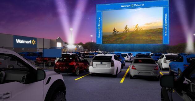 沃尔玛下周开始将其停车场改造为自动驾驶影院