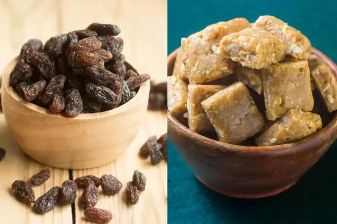 粗糖和葡萄干:将它们添加到饮食中以减轻体重