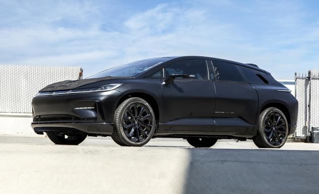 破纪录的法拉第未来原型电动汽车即将拍卖