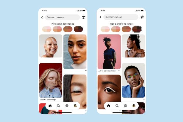Pinterest表示其肤色搜索现在更加准确