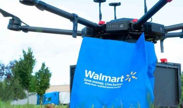 沃尔玛测试杂货 家用物品的无人机交付