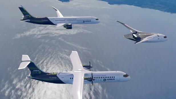 空客宣布零排放氢动力飞机的概念设计