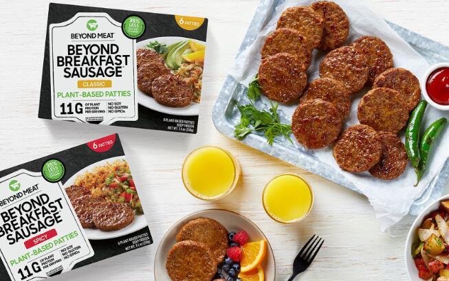 超越肉类宣布大规模的早餐产品零售扩张