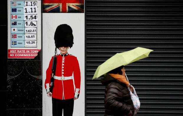 英镑因欧盟对英国提起法律诉讼而扩大损失