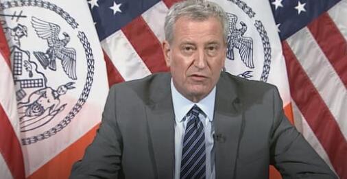 市长德布拉西奥说纽约市将关闭学校进行面对面的学习